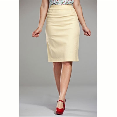 Emmy Design The pretty pencil skirt yellow waffled in the group Clearance / Women / Skirts at Sivletto (w6572)