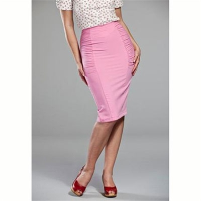Emmy Design The curvy wiggle skirt candy pink  in the group Clearance / Women / Skirts at Sivletto (w6574)