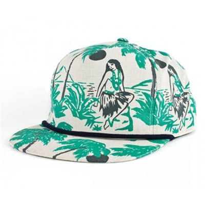 Brixton Henshaw Luau cream/green cap in the group Sale! / Men / Headwear at Sivletto - Skylark AB (w6819)