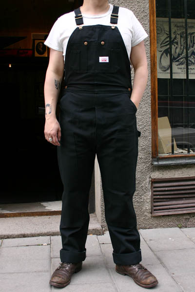 Round House Lot 383 Duck Bib Black in the group Men / Bib Overalls at Sivletto (w6844)