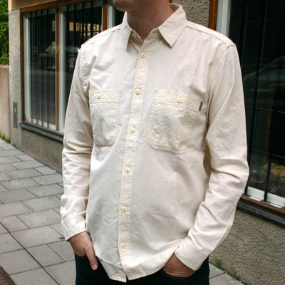 Carhartt Clink Shirt Natural Rinsed in the group Clearance / Men / Shirts at Sivletto (w7020)