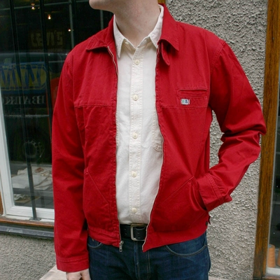 Wrangler Blue Bell Sedgefield Zip Red in the group Clearance / Men / Jackets at Sivletto (w7026)