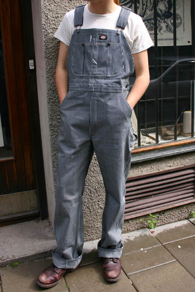 Dickies Hickory Bib Overall  in the group Men / Bib Overalls at Sivletto (w7034)