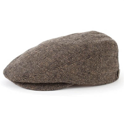 Brixton Hooligan Brown/Khaki Herringbone in the group Sale! / Men / Headwear at Sivletto - Skylark AB (w7243)