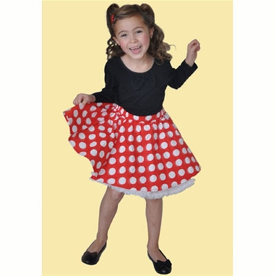 Janet Cirkle Skirt Red w white dots in the group Clearance / Kids at Sivletto (w7340)