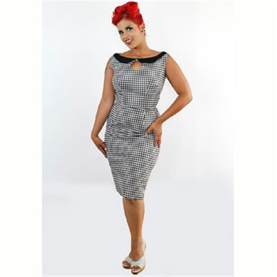 Jane gingham wiggle dress in the group Clearance / Women / Dresses at Sivletto (w7474)