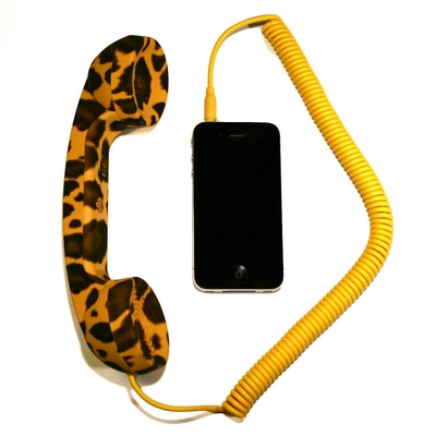 POP Phone Handset Leopard in the group Home and stuff / Electrical at Sivletto (w7513)