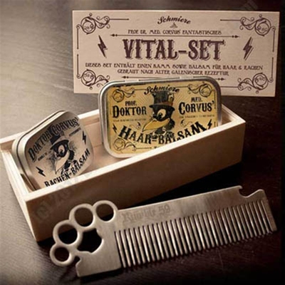 Rumble59 Doktor Corvus' Vital-Set in the group Hair and skincare / Combs at Sivletto - Skylark AB (w7533)