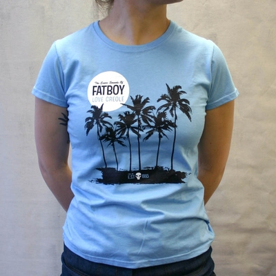 Fatboy Girlie Tee Blue in the group Clearance / Women / Tops etc at Sivletto - Skylark AB (w7593)