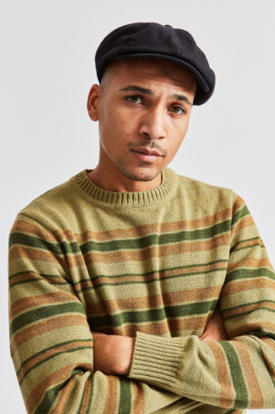 fad27a95 Brixton Brood black herringbone twill in the group Men / Headwear / Flat  caps at Sivletto