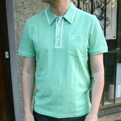 Penguin Earl Neptune Green Heather in the group Clearance / Men / T-shirts at Sivletto (w7671)