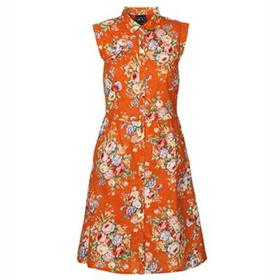 Edith & Ella Flora coral dress in the group Clearance / Women / Dresses at Sivletto (w7702)