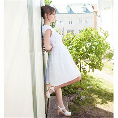 Jumperfabriken Alberta White Eyelet Dress in the group Clearance / Women / Dresses at Sivletto (w7829)