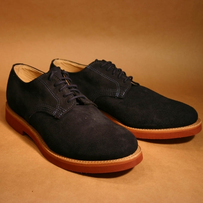 Derby Navy Buck Suede in the group Clearance / Men / Shoes at Sivletto (w7839)