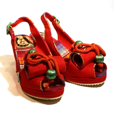 Norma Red Wedge Sandal in the group Clearance / Women / Women Shoes at Sivletto (w7888)