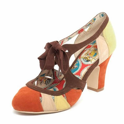 Parade Brown/Yellow Laced Sandal in the group Clearance / Women / Women Shoes at Sivletto - Skylark AB (w7890)