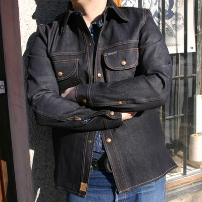 Indigofera Fargo Shirt No.9 Selvage Denim in the group Unionville / Jackets and coats at Sivletto (w7948)