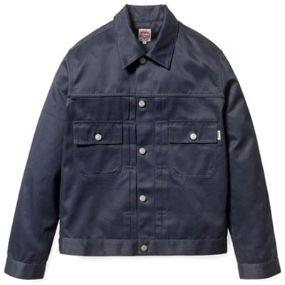 Carhartt Station Jacket Dark Navy in the group Clearance / Men / Jackets at Sivletto (w7954)