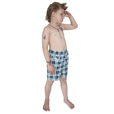 Terry Check Swim Kids Shorts in the group Kids / 2 – 8 years at Sivletto - Skylark AB (w8007)