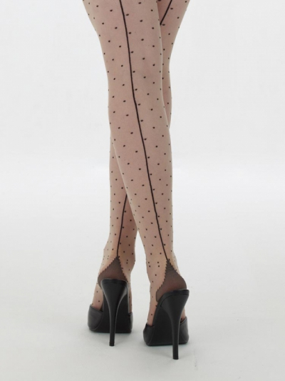 What Katie Did Retro seamed dot tights  in the group Women / Undergarments at Sivletto (w8106)