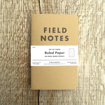 Field Notes 3-pack Ruled in the group Unionville / Accessories at Sivletto (w8177)