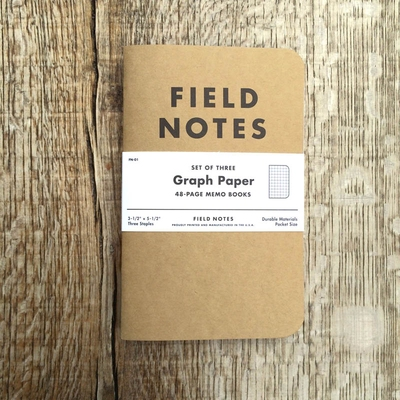 Field Notes 3-pack Graph in the group Stuff / Home / Office and stationary at Sivletto - Skylark AB (w8179)