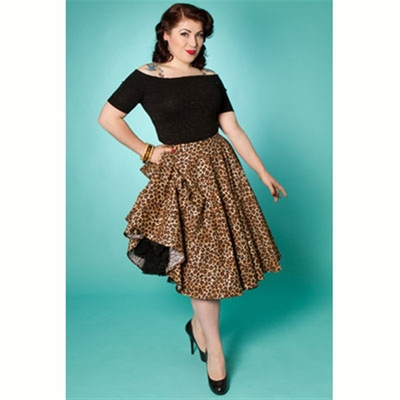 Miss Fortune Simply Pleasure Leopard Skirt in the group Clearance / Women / Skirts at Sivletto (w8275)