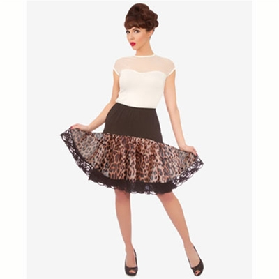 Steady Clothing Leopard ruffle petticoat in the group Clearance / Women / Misc at Sivletto (w8295)
