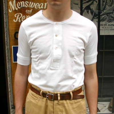 Merz b. Schwanen 207 1/4 Sleeve White Shirt Organic in the group Unionville / Short sleeve at Sivletto (w8303)