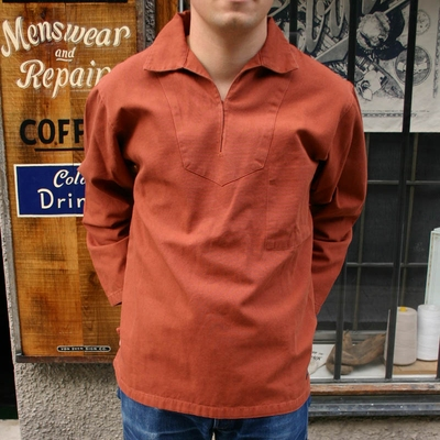 Armor-Lux Port Manech Vareuse Rust in the group Men / Shirts, long sleeve at Sivletto (w8323)