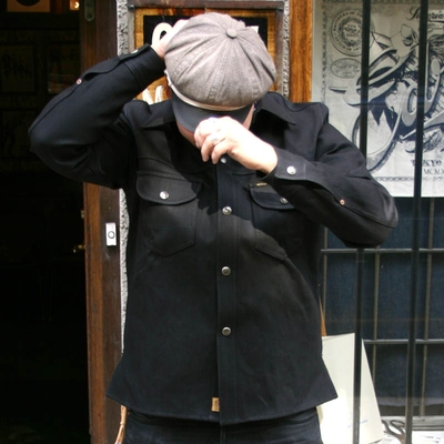 Indigofera Fargo Shirt Gunpowder Black Selvage in the group Unionville / Jackets and coats at Sivletto (w8375)