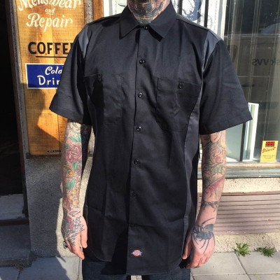 Dickies S/S Two Tone Black/Charcoal in the group Clearance / Men / Shirts at Sivletto - Skylark AB (w8425)