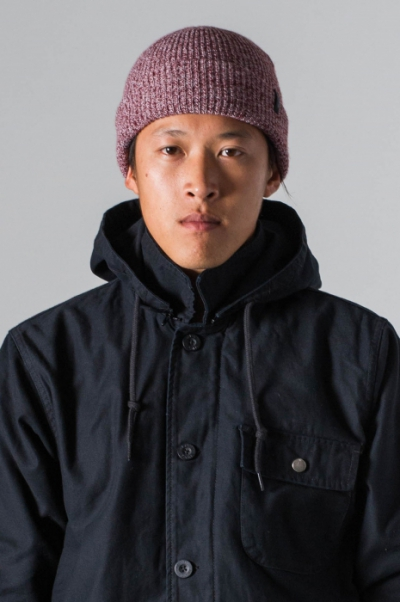 Brixton Heist Burgundy Heather beanie  in the group Men / Headwear / Beanies at Sivletto (w8553)