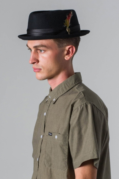 Brixton Stout Pork Pie Black in the group Men / Headwear / Hats at Sivletto - Skylark AB (w8576)