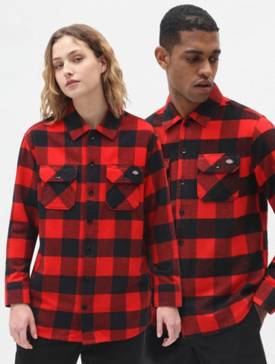 Dickies Sacramento Red Shirt in the group Men / Shirts, long sleeve at Sivletto (w8606)