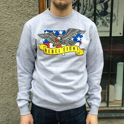Rebel8 Deep Forged Gray Crewneck in the group Clearance / Men / Sweaters at Sivletto (w8964)