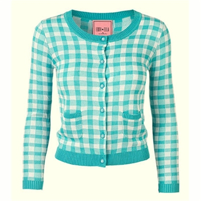 Edith & Ella Mint Bardot cardigan in the group Women / Sweaters and cardigans at Sivletto (w8969)