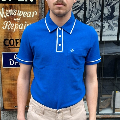 Penguin Earl Snorkel Blue in the group Clearance / Men / T-shirts at Sivletto (w8990)