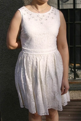 Upcykled Lace Dress Off-White in the group Clearance / Women / Dresses at Sivletto (w9124)