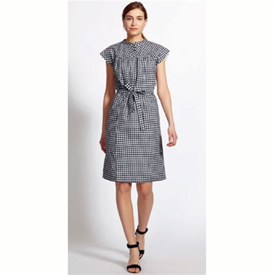 Greta Gingham Yoke Dress in the group Clearance / Women / Dresses at Sivletto (w9235)