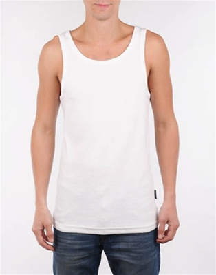 Ted Ribbed Singlet White in the group Men / Undergarments at Sivletto (w9260)