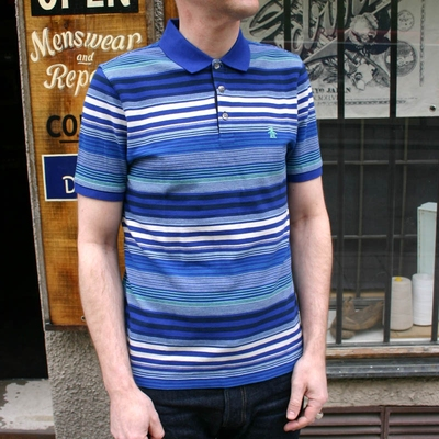 Penguin 3 Btn Polo Mazarine Blue in the group Men / Shirts, short sleeve at Sivletto (w9337)