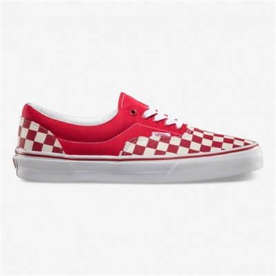 Vans Era Checkerboard Red/Natural