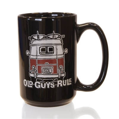 Old Guys Rule Good Vibrations Black Mug in the group Home and stuff / Kitchen & edibles at Sivletto (w9482)