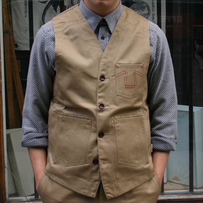 Eat Dust Service Vest Sand in the group Men / Vest at Sivletto (w9532)
