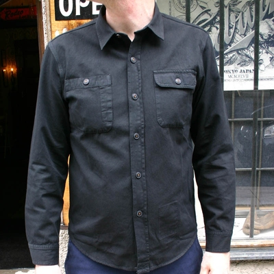 WMAC Overdyed Shirt #19 Black in the group Unionville / Long sleeve at Sivletto (w9553)