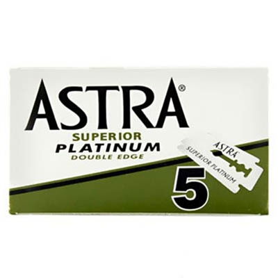 Astra Superior Platinum Razorblade 5Pack in the group Hair and skincare / Shaving / Razor blades at Sivletto - Skylark AB (w9561)