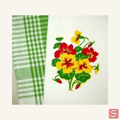 Nasturtium kitchen towel in the group Clearance / Misc at Sivletto (w9623)