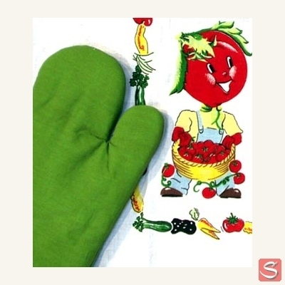 Green oven mitt in the group Clearance / Misc at Sivletto (w9624)