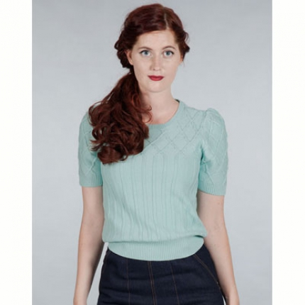 Emmy Design The hepcat cableknit top mint in the group Clearance / Women / Tops etc at Sivletto (w9721)